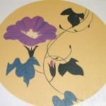 写真陶板西のぼる画歩道用装飾タイル~加賀の千代女