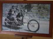 オリジナル写真陶板ハーレー額装