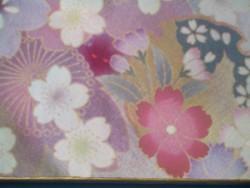 写真陶板制作例~加賀友禅着物柄