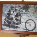 オリジナル写真陶板ハーレー