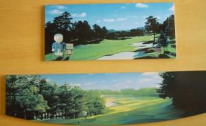 写真陶板ゴルフ場記念プレート