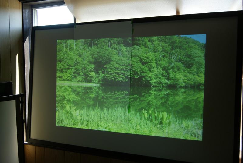 珪藻土プロジェクタースクリーン