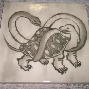 写真陶板制作例~玄武