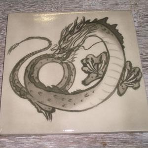 写真陶板制作例~青龍