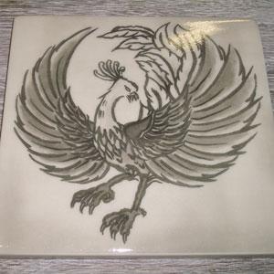 写真陶板制作例~朱雀