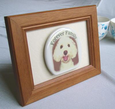 オリジナル写真陶板ペット写真