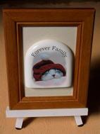 オリジナル写真陶板ハッピーファミリーペット写真