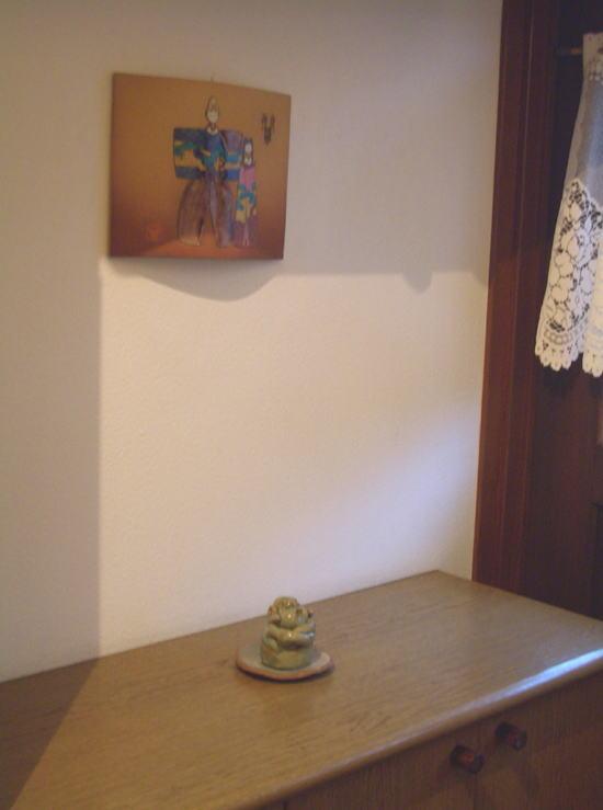 九谷焼雛飾り~仲良し雛瓦焼壁掛け