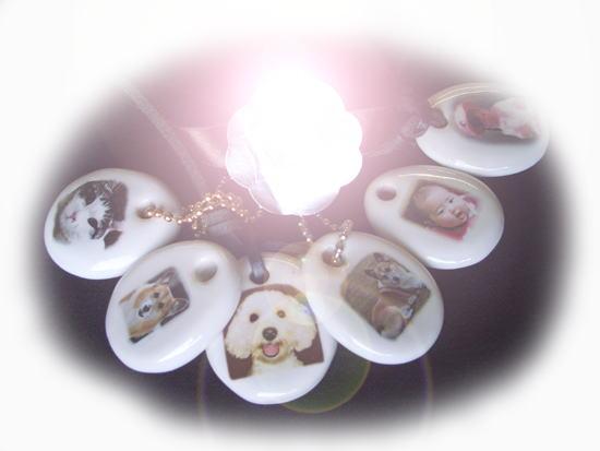 オリジナル写真陶板~メモリアル陶製キーホルダーフォトセラビーンズ豆っこ