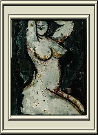 泉椿魚氏作品~裸婦陶板