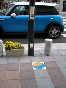 白山市千代尼通り街灯サイン看板