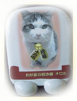 オリジナル写真陶板~我が家の招き猫うちの子